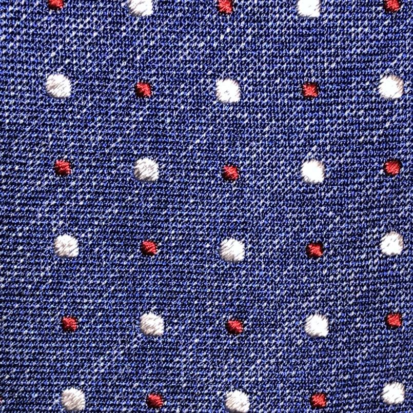 Ascot blauwe stippen stropdas