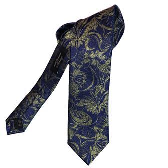 Ascot groene paisley stropdas