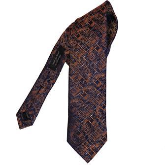 Ascot oranje motief stropdas