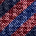 Ascot rode balkstreep stropdas