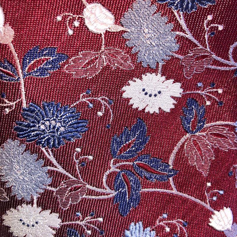 Ascot rode bloemen stropdas