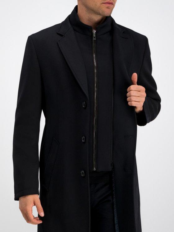 Bugatti zwarte flexity winterjas