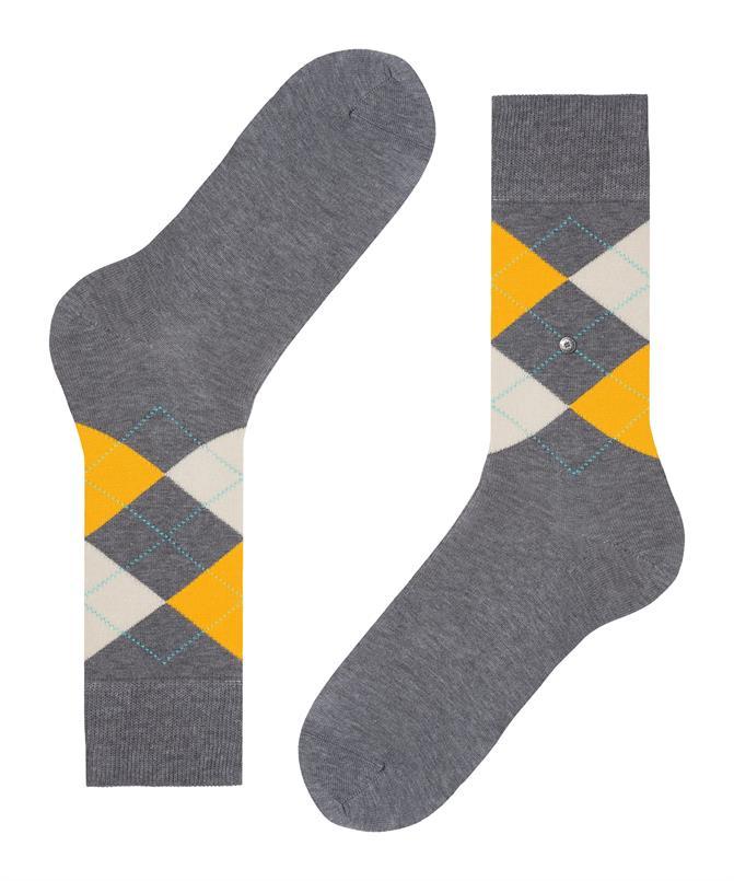 Burlington grijze Manchester sokken