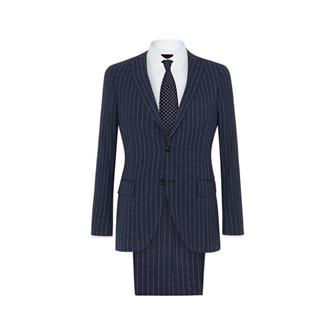 DAKS navy chalk pinstripe suit