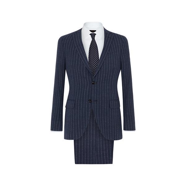 DAKS navy chalk pinstripe suit