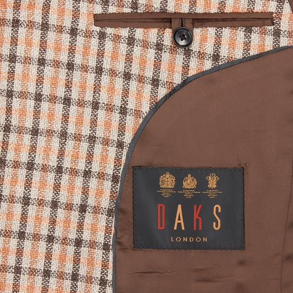 DAKS orange house check colbert