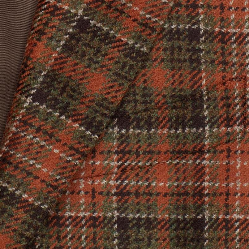 DAKS orange tartan colbert