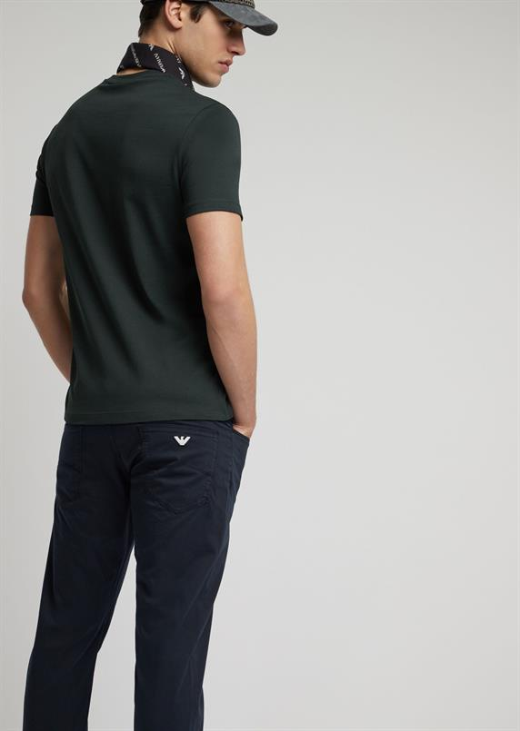 Emporio Armani Slim-fit 5 pocket in katoen