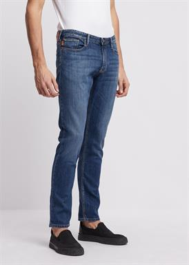 Emporio Armani Slim-fit jeans in 10 oz comfort denim