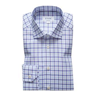 ETON blauw geruit hemd