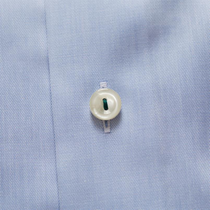 ETON blauw hemd met bloemen details