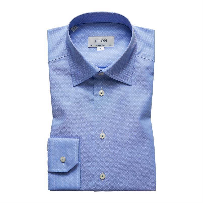 ETON blauw hemd met patroon