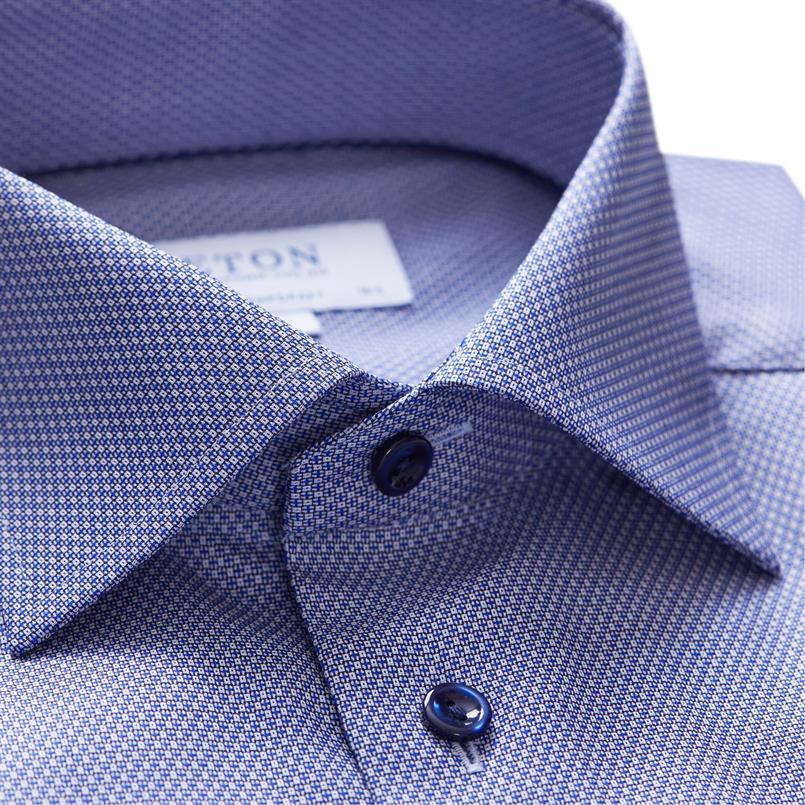 ETON blauw oxford hemd