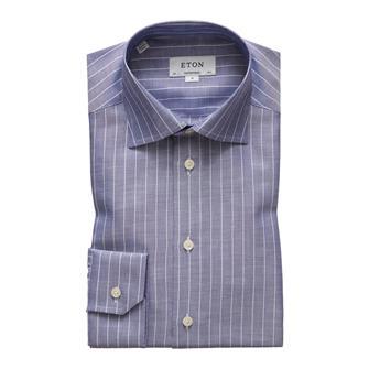 ETON blauw oxford streep hemd