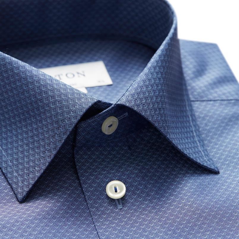 ETON donkerblauw hemd