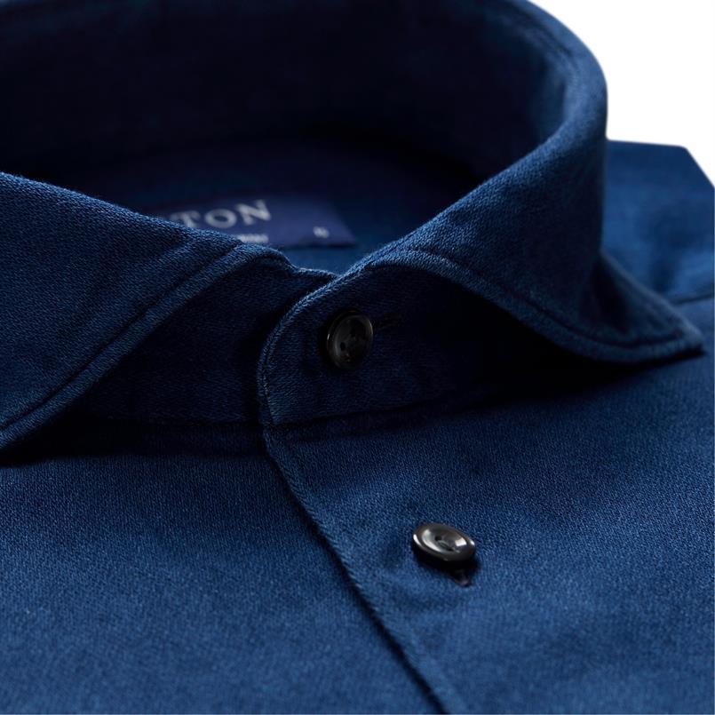 ETON indigo jersey hemd