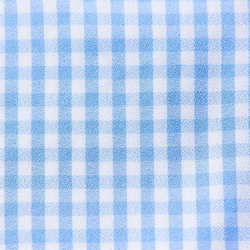 ETON lichtblauw ruit hemd