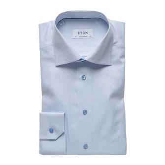 ETON lichtblauw twill hemd