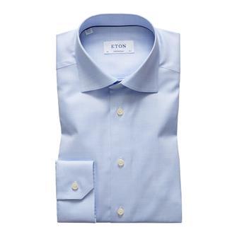 ETON lichtblauw visgraat hemd