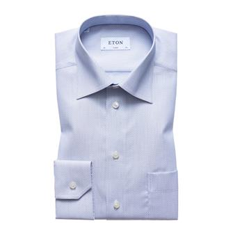 ETON lichtgrijs open geweven hemd
