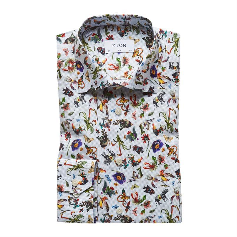 ETON metamorphosis print hemd