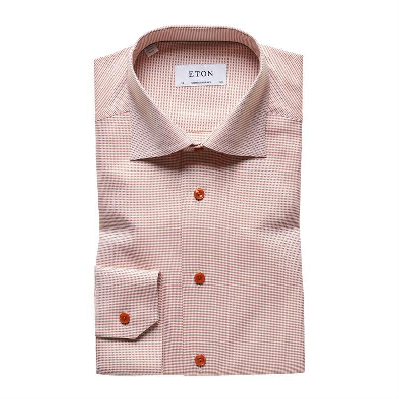 ETON oranje twill hemd
