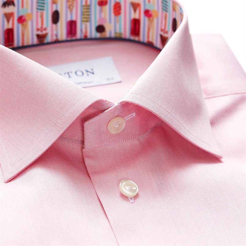ETON roze hemd met ijshoorntjes details