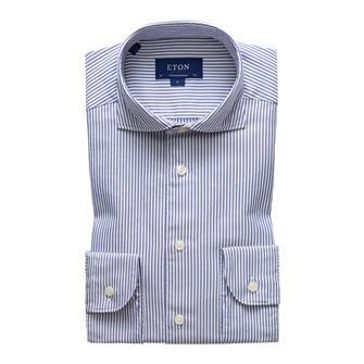 ETON streep semi-dress hemd