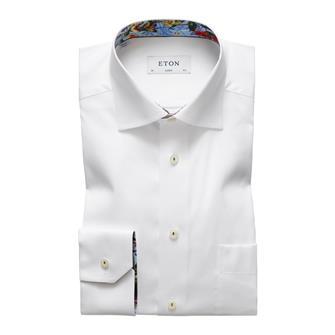 ETON wit hemd met bloemen details