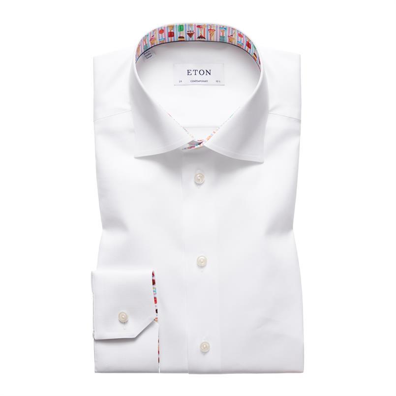 ETON wit hemd met ijshoorntjes details