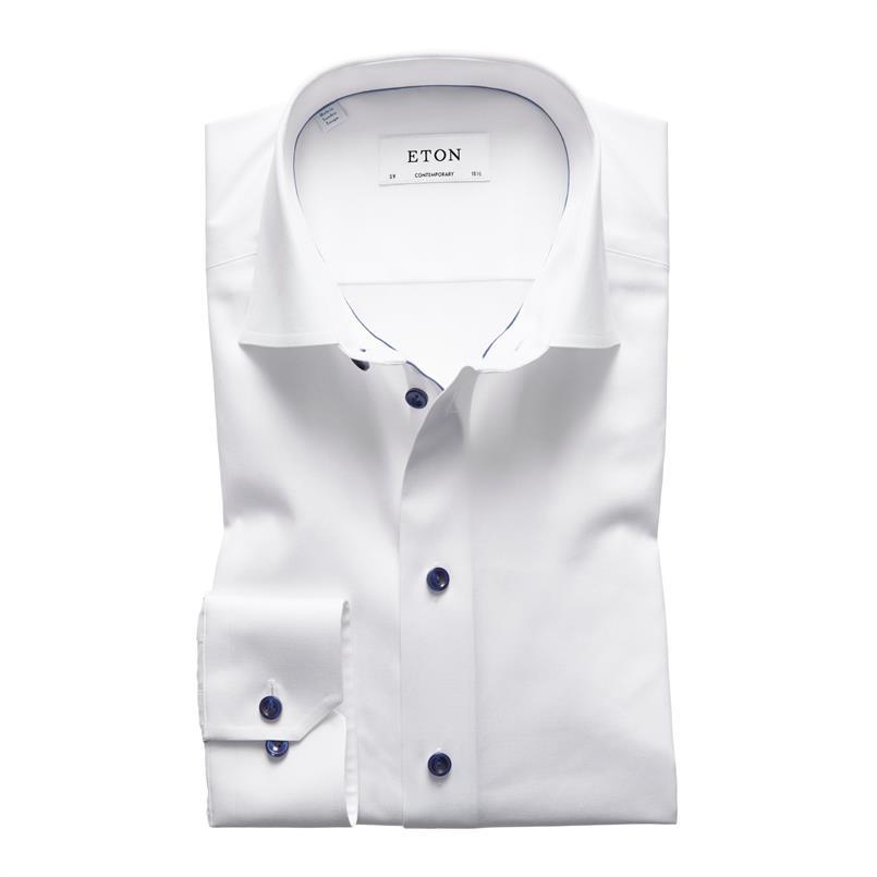 ETON wit twill hemd
