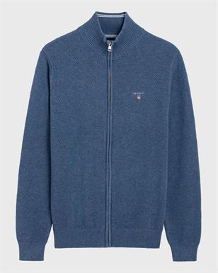 GANT Cotton Pique Zip Cardigan