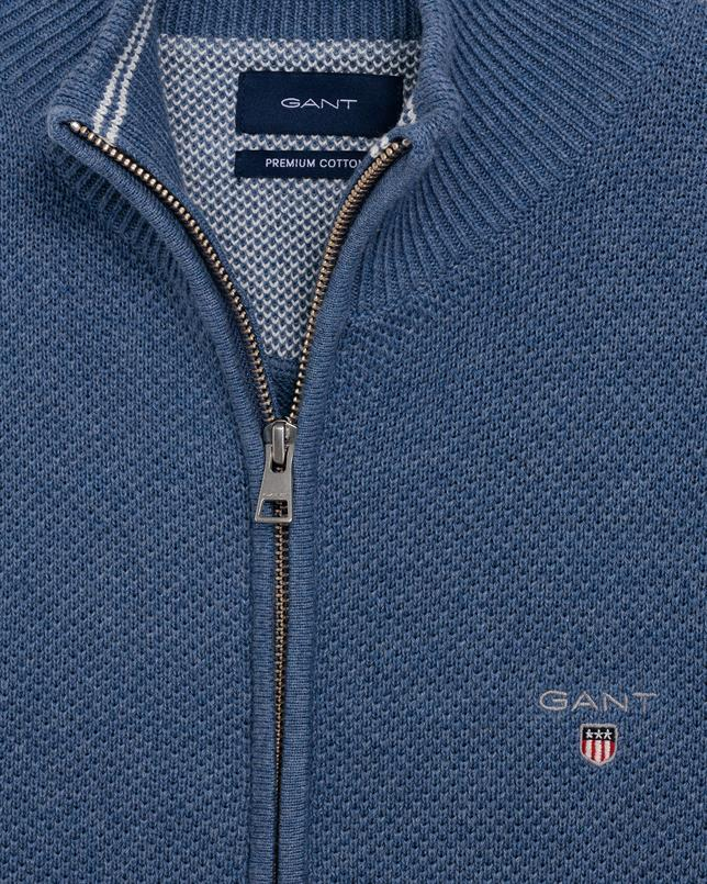 GANT Cotton Pique Zip Cardigan