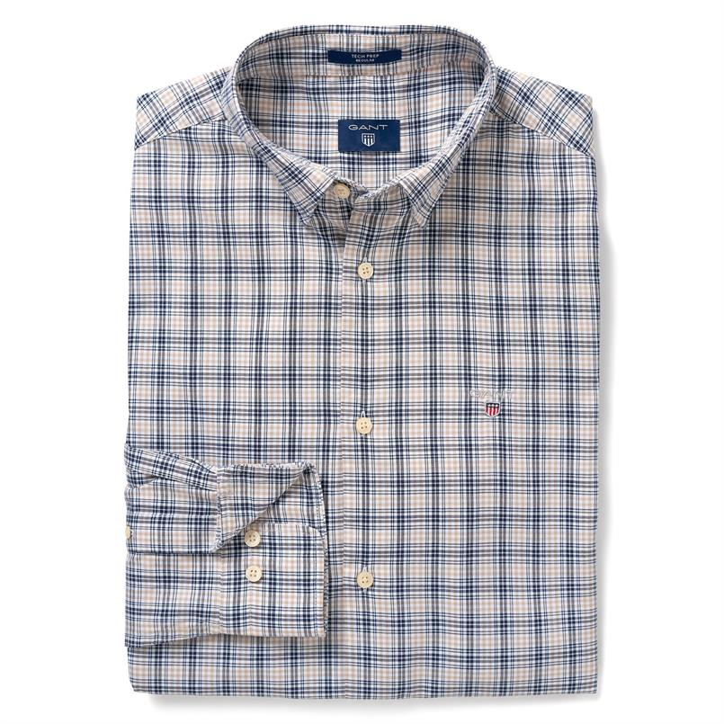 GANT Geruit overhemd van Tech Prep™ popeline in Regular Fit