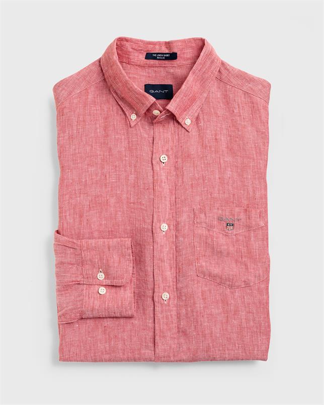 GANT Linnen overhemd in Regular fit