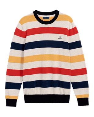 GANT multi colored stripe crew