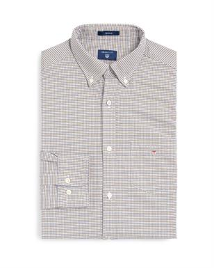 GANT Oxford-shirt met Pied-de-Poule motief in Regular Fit