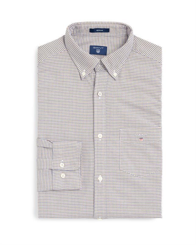 GANT Oxford-shirt met Pied-de-Poule motief in Regular Fit