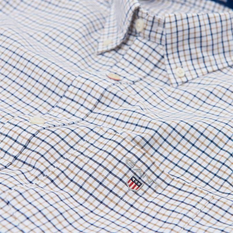 GANT Oxford-shirt met Tattersall-ruitje in Regular Fit