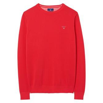 GANT Piqué sweater met ronde hals