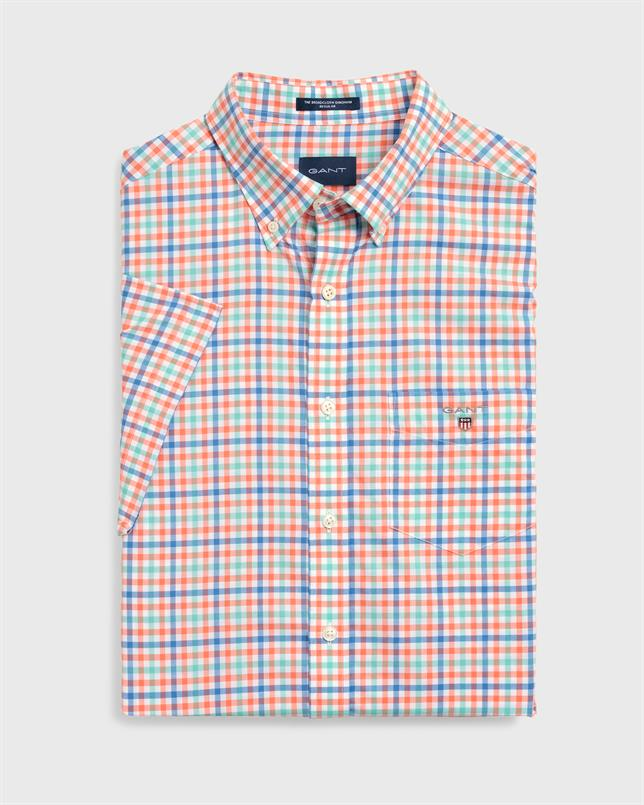 GANT Popeline overhemd met driekleurige Gingham-ruiten in Regular Fit