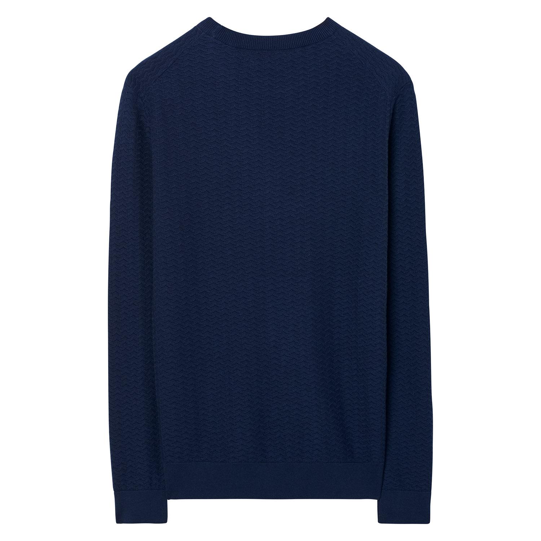bbef510f50a GANT Sweater met ronde hals en visgraatmotief