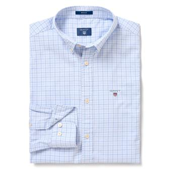 GANT Tattersall shirt in Regular Fit met visgraatmotief