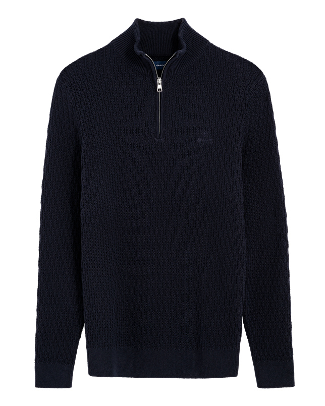 GANT wheat texture half zip