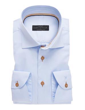 John Miller uni Lichtblauw overhemd