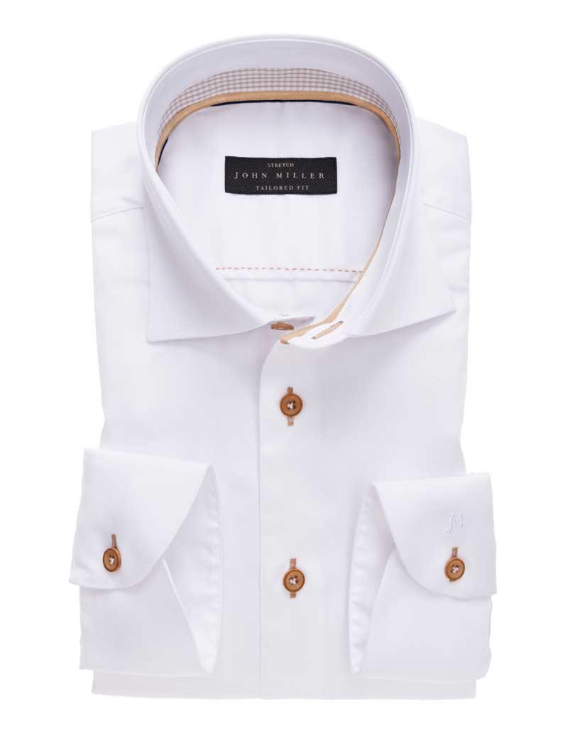 John Miller uni wit overhemd