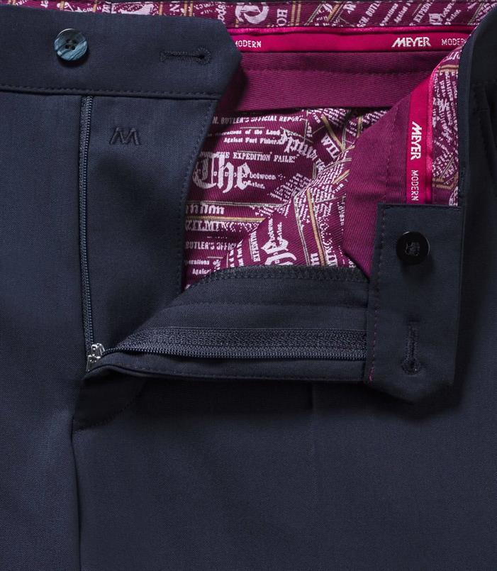 Meyer gabardine wol stretch pantalon Bonn