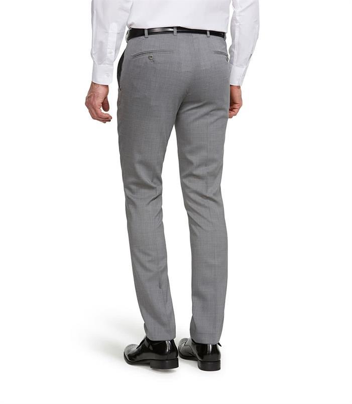 Meyer grijze wollen pantalon Bonn