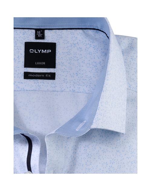 Olymp lichtblauw bloemen luxor modern fit hemd