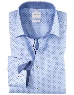 Olymp lichtblauw luxor comfort fit hemd